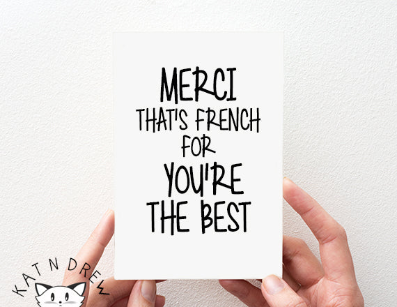 French For/ You're The Best Card.  PGC134