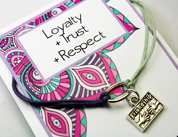 loyalty and trust friend charm