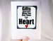 heartfelt gift idea magnet keepsake and card