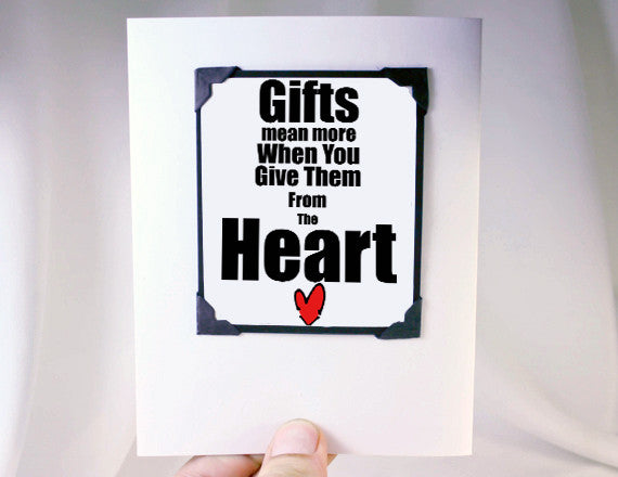 gifts from the heart quote card