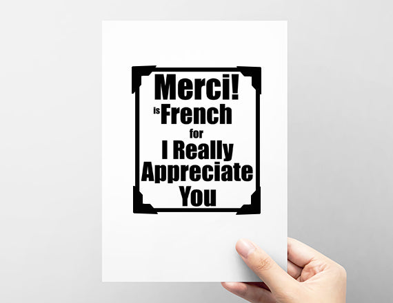 thank you card in french