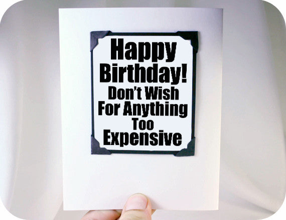 Funny Birthday Quote And Magnet Gift Kat N Drew Cards