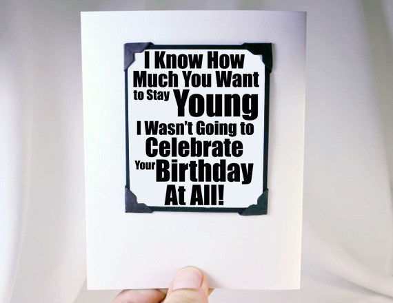 forever young birthday magnet card