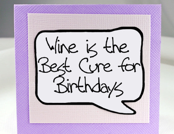 funny birthday card for wine lover magnet and note card