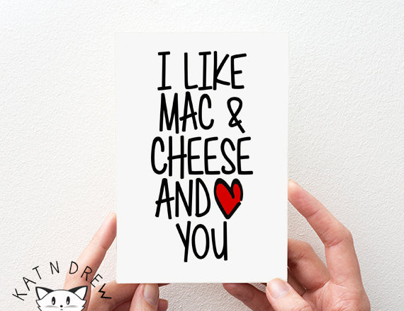 I Like Mac & Cheese Card.  PGC077