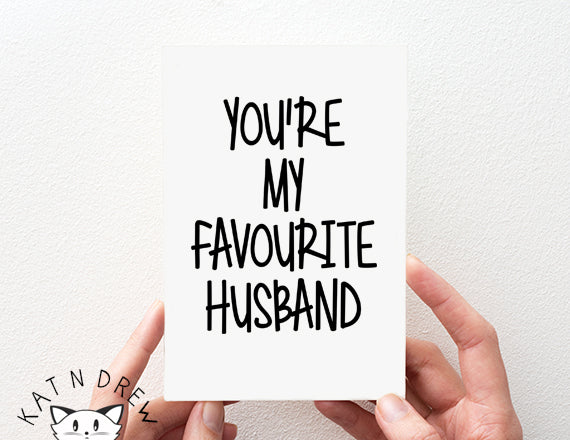 Favourite Husband Card.  PGC101