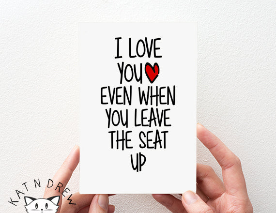 I Love You Even/ Seat Up Card.  PGC024