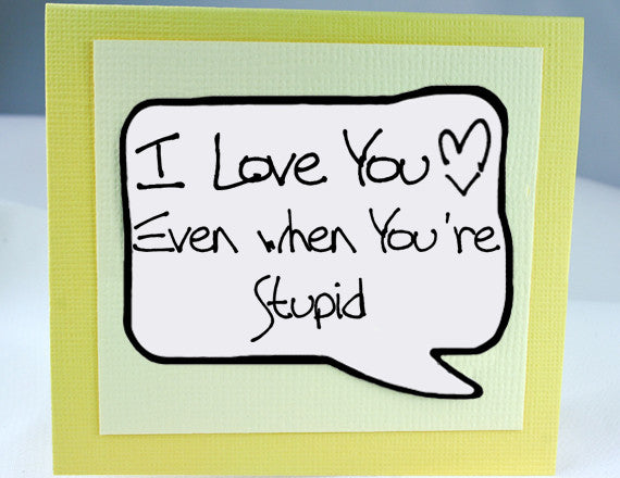 funny anniversary card for guys love you card for him in yellow