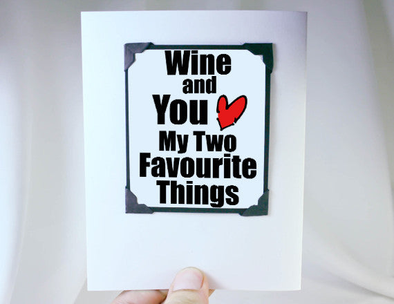 wine and you favourite things magnet