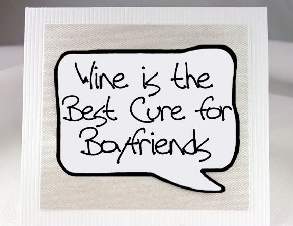 funny boyfriend card for wine lovers with magnet