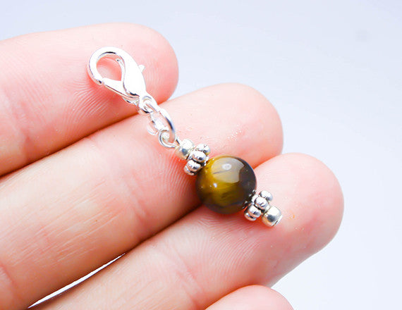 tigers eye charm for charm bracelet