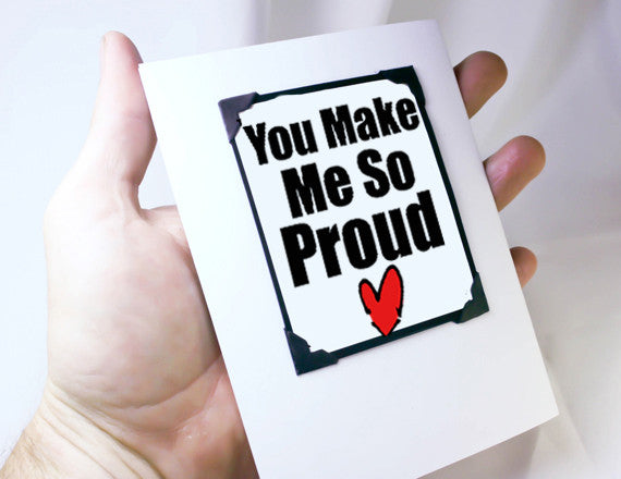 proud of you love you graduation greeting card and magnet keepsake