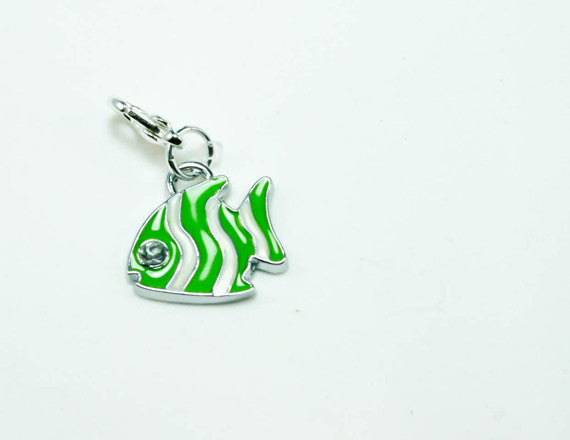 green angel fish charm