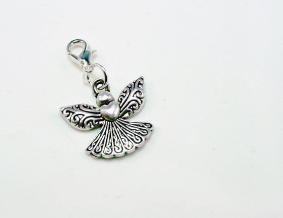 elegant angel charm