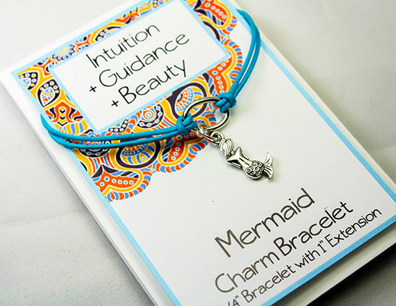 mermaid charm bracelet for guidance and intuition
