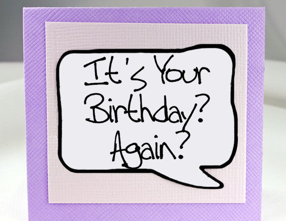 Funny Birthday Card - MGN-MIS208