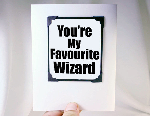 Harry Potter Card Wizard Gift Magnet Quote