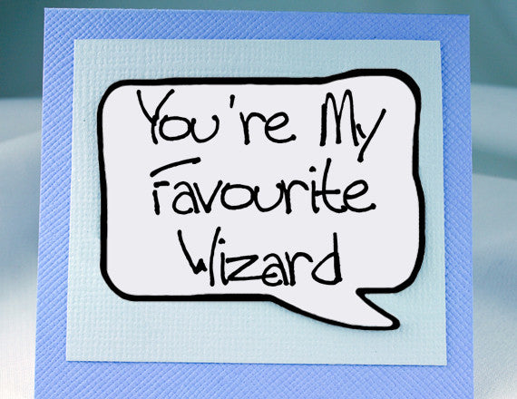 harry potter wizard card and funny magnet for friends