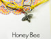 honey bee charm bracelet