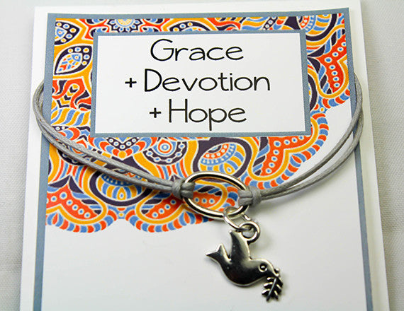 dove charm bracelet for hope and grace