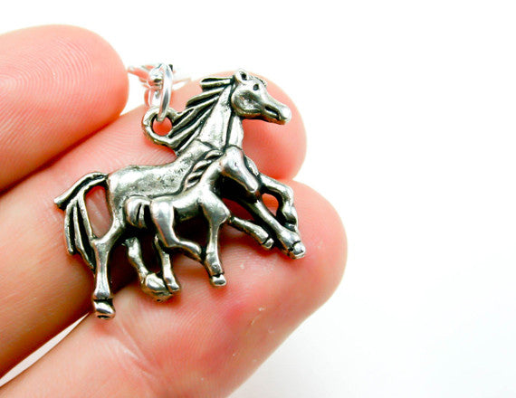 horse lover charm silver charm
