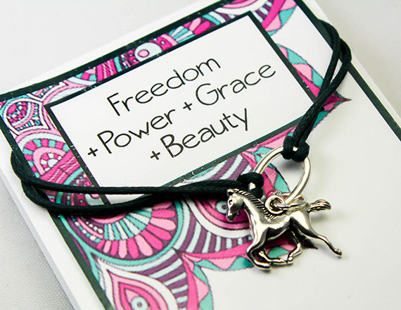 freedom and grace charm bracelet