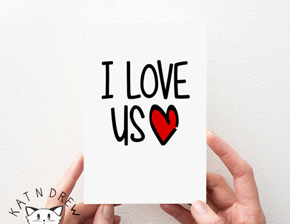 cute love you card. couples card. anniversary card