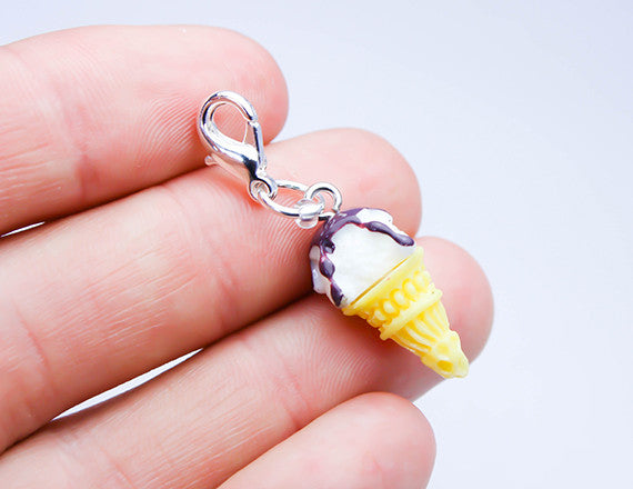 ice cream cone charm for bracelets