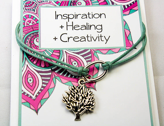 healing and inspiration charm bracelet