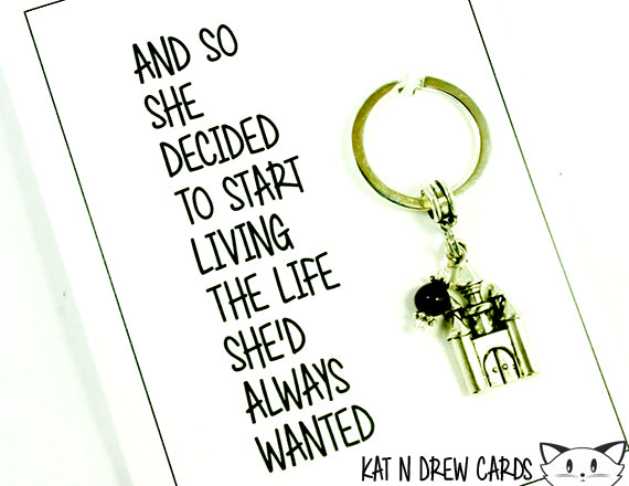 She Decided To Start Living Card.  KEY021