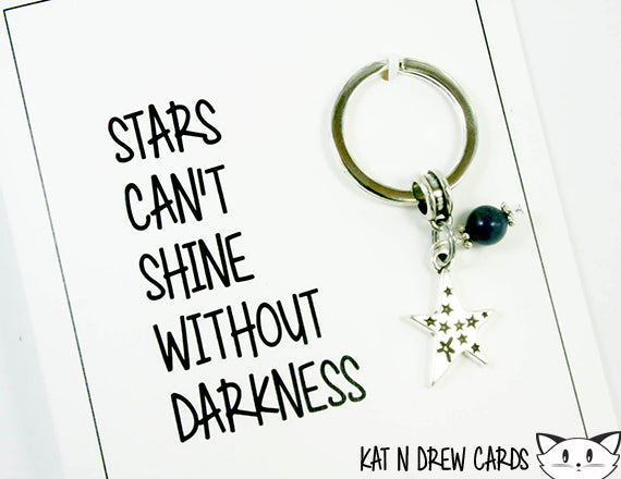 Can't Shine Without Darkness Card.  KEY025