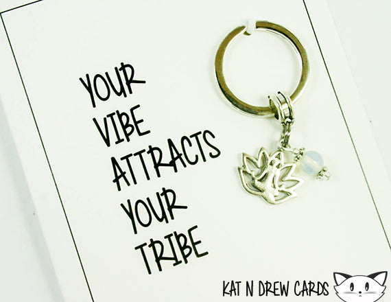 Vibe Attracts Tribe Card.  KEY032