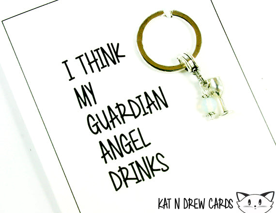 Guardian Angel Drinks Card.  KEY042