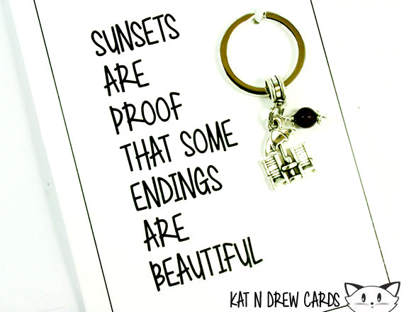 Endings Are Beautiful Card.  KEY043