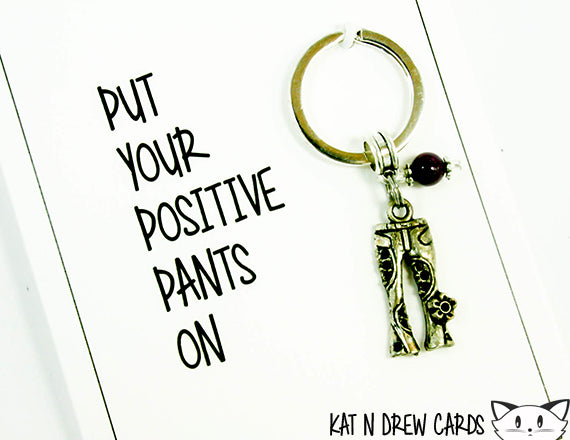 Positive Pants Card.  KEY045