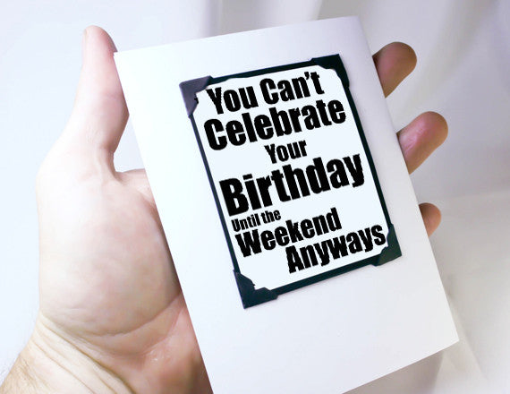 late birthday card magnet quote
