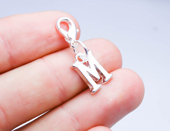 letter m personalized name charm