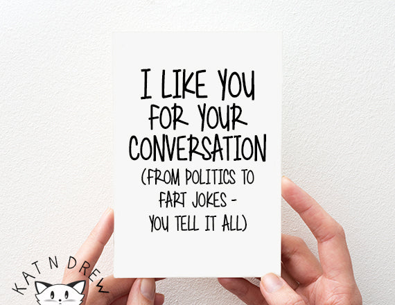 Like You For Your Conversation Card.  PGC100