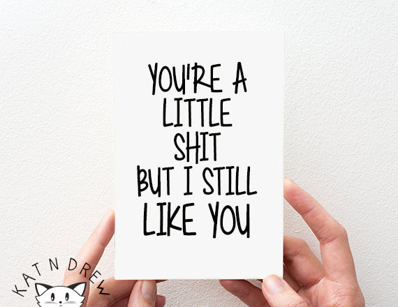 Little Shit/ Like You Card.  PGC053