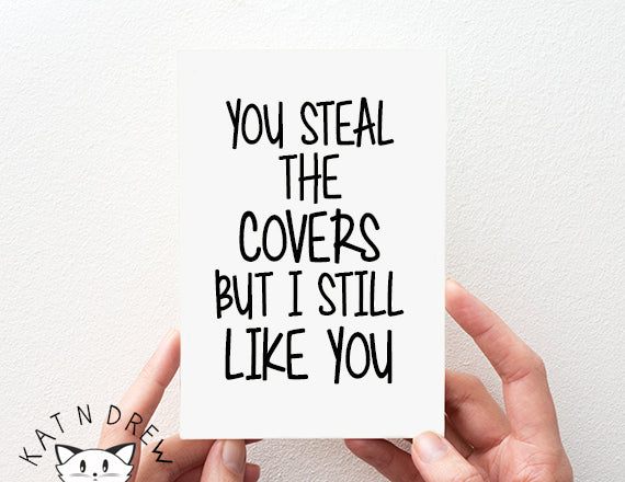 Steal covers/ still like you card. PGC108