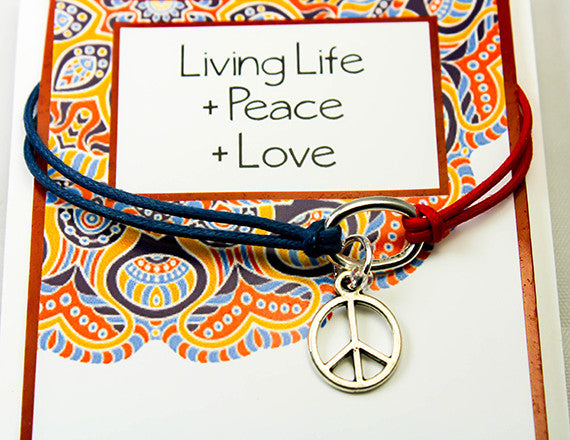 peace sign charm bracelet for love and peace