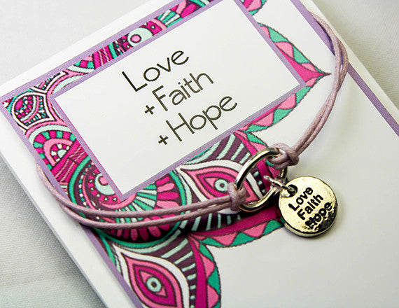 love charm bracelet for inspiration and hope
