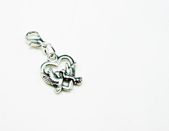 dove love bird charm