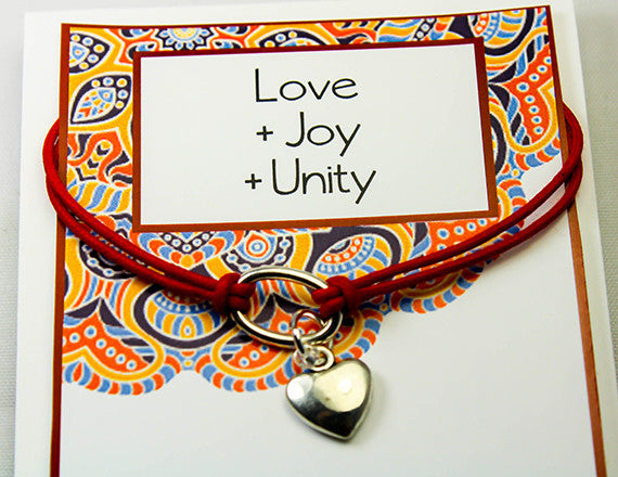 heart charm bracelet for love and unity