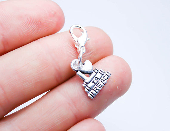 book lover reading charm for bookworms