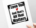 love matters most card