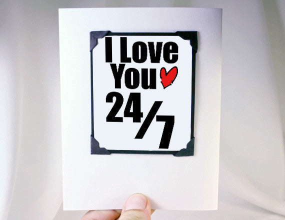 love you every day of the week cute love you card