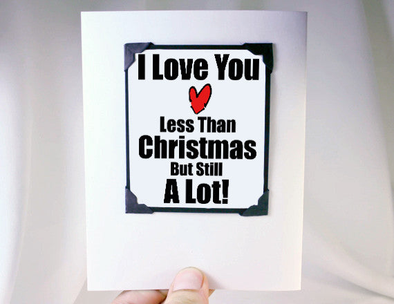 christmas gift cute magnet card love you gift