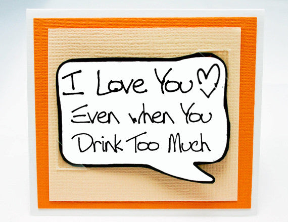 couples card for drinkers cute love you anniversary card