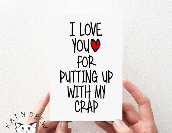 I Love You/ My Crap Card.  PGC146